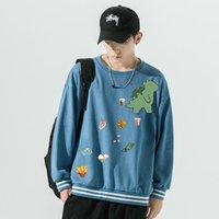 Men's Hoodies & Sweatshirts Crewneck Mens Autumn Fashion Male Sports Streetwear Boys Graphic Oversized Pullovers Teenagers Couple Clothing Z