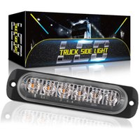 6 12 LED 스트로브 라이트 트럭 경고 조명 12-24V 자동차 SUV 차량 오토바이에 대 한 유니버설 비상 LED