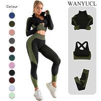 2/3 unids conjunto sin fisuras gimnasio ropa fitness mujeres yoga ropa deportiva ropa femenina entrenamiento leggings top deporte ropa de entrenamiento traje