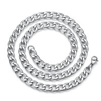 2021 Stainless Steel Hip Hop Silver 18k Gold Fashion Big Thick Wide Men's NK Link Chain Cuba Punk Gothic Necklace Jewelry 3MM to 13MM Width
