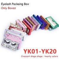 46 eyelash Packaging Box 3d Mink eyelashes Carton Paper Packing Box for 25mm EyeLash Wholesale Bulk Cheap Pretty Lashes Packaging Hot