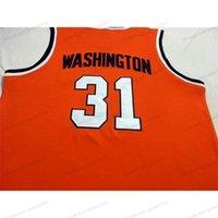 Custom # 31 Dwayne Pearl Washington Syrakus College Basketball Jersey Männer genäht Orange Jede Größe 2xs-5XL Name und Nummer
