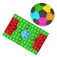 Wholesales Football Set Push Bubble Fidget Zabawki Dzieci Prezent Urodzinowy Prezent Andystresowy Niepokój RELIVER Soccer Dorośli Zabawki 496