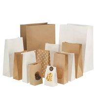 2000 pezzi di carta kraft giapponese Borsa da cucina a prova di olio a prova di olio fondo quadrato monouso stoccaggio di stoccaggio borse da imballaggio del pane 90 * 55 * 180mm