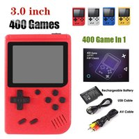 400-in-1 Handheld Video Game Console Retro 8-bit Design 3-inch LCD 400 Classic Games -Supports Two Players AV Output Pocket Gameboy