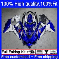 Injektionsformfee för Suzuki GSXR600 GSXR-750 750cc K8 Fabriksblå Ny GSXR750 08-10 22NO.20 GSXR 600 750 CC 600CC GSX-R600 08 09 10 GSXR-600 2008 2009 OEM Bodys