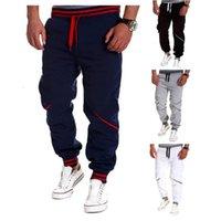 Men 'S Pants Casual Contrast Color Splice Sports Pants Men Joggers Sweat Winter Pants Men Sweatpants Joggers Print Size 2XS-4XL