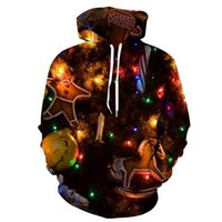 Men's Pattern 3D Printing Hoodie Party Fashion Tops Christmas Round Neck High Quality Street American Sweater Four Seasons NO69
