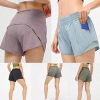 2021 женский наряд стиль LU-33Fashion все матча летние платья эластичные талии йога шорты Lulu брюки леггинсы карманные быстрые сухие спортивный спорт