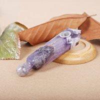 자연 크리스탈 흡연 튜브 오리지널 다이아몬드 꿈 자메이스트 파이프 간단한 패션 담배 홀더 제조 업체 직접 판매