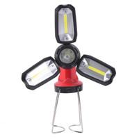 Tragbare Laternen LED COB CAMPING Lampe Outdoor Wasserdichte Arbeitslicht USB Wiederaufladbare Wanderung Verformbare Notaufnahme Beleuchtung Laterne