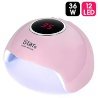 36W Star6 Séchoir à ongles Mini LED UV Lampe à ongles UV pour manucure LCD Affichage Séchage de tous les gels Nail Nails Nails Art Outils