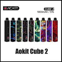 Authentique cube AOKIT Cube 2 Vape Barre jetable Dispositif 3200muffs 1800mAh Batterie 12ml cartouches de Vaporisateur Stick Stick 100% original vslux