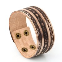 Tennis Vintage Embossed Lace Pattern Women Bracelets Genuine Leather Arm Bangles Jewelry For Party Club Couple Wristband Accessories