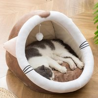 Cat Beds & Furniture Removable Bed House Kennel Nest Dog Tent Sofa Cushion Pet Mat Kitten