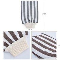 Bath Scrubbers Hammam Scrubbing Glove Double Deck Exfoliating Gloves Morocco Towel Treatment Scrub Exfoliator Mitt Magic Peeling EWD10076