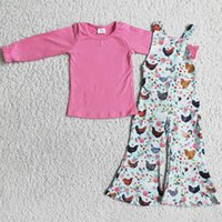 Kids Designer Clothes Girls Overalls Sets Fashion Farm Design Baby Girl Boutique Clothing Set Cute Leopard Wholesale Kid Children Overall Outfits Milk Silk