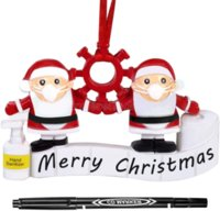 Cuarentena personalizada 2021 Adornos de Navidad Adornos de la familia Adorno de la familia Personalizado Kit de decoración de Navidad Árbol de Navidad Colgante Colgante DIY Regalo creativo 496
