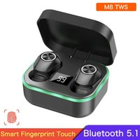 M8 TWS Touch Control Wireless Earphones Bluetooth V5.1 Headphones Sports Noise Cancelling Headset Waterproof Earbuds With Mic