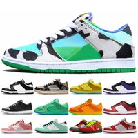 Women Mens Running Sports Shoes Chunky Dunky Low Sneakers Night of Mischief Yellow Green Laser Orange Bred UNC Skateboarding trainer shoe