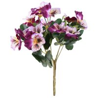 Decorative Flowers & Wreaths Table Bouquet Decor Artificial Simulation Plant Home Desk Office El Ornament Wedding Pansy Fake Party