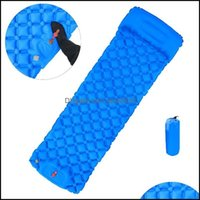 Outdoor And Sports & Outdoorsoutdoor Pads Slee Pad Cam Inflatable Mattress With Pillows Travel Mat Folding Bed Tralight Air Cushion Hiking T