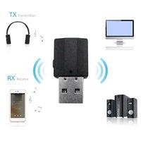 Trasmettitore di ricevitore audio Bluetooth 2 in 1 mini 3.5mm Jack AUX USB Stereo Stereo Adattatore wireless per le cuffie per PC per auto TV