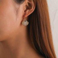 Schmuck Kreative Mode Legierung Jakobsmuschel Ohrschnalle Damen Einfache geometrische Muschelohrringe