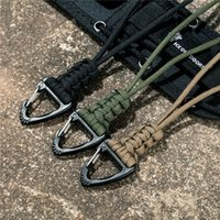 Key Rings Mkendn Paracord Keychain Lanyard Triangle Buckle High Strength Parachute Cord Self-defense Emergency Survival Backpack Ring