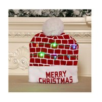 Christmas Decoration Toy Supplies LED Hat Adult Children Knitted Caps Colorful Glowing High-end Senior Hats Halloween Valentine's Day And New Year Gifts W2675