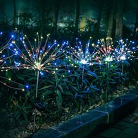 LED Solar Light Fireworks Outdoor IP65 Waterproof Garden Lamps Energy Saving Lawn Lights for Holiday Chrismas RGB