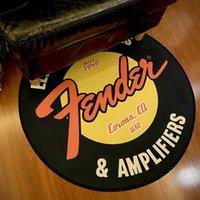 Tapis Fender Guitare Tapis rond Tapis coloré Tapis de sol en Flanelle Tapis de réparation de tapis de plateau pour la salle de musique Chambre à coucher Décoratif de la maison
