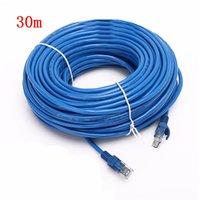 5 m / 10 m / 20 m / 30 m CAT5E RJ45 Ethernet Kabloları 8Pin Bağlayıcı Internet Ağı Kablosu Kordon Tel Hattı Mavi RJ 45 LAN