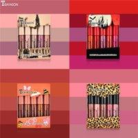 Teayason Lips 메이크업 세트 미니 무광택 액체 립스틱 립킷 립글로스 5pcs 누드 컬러 립글로스 메이크업 키트 4 스타일