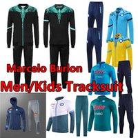 21/22 Napoli Eşofman 2021 Burlon Nàpule Kapşonlu Ceket Eğitim Rüzgarlık Hoodies Kazak Napoli Futbol Setleri Insigne Maradona Survetement Jogging Erkekler + Çocuklar