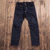 SD107-0001 Rock Can Roll Lea la descripción! Pantalones de índigo de índigo de pesaje sin lavar los pantalones sin lavares, grueso, grueso, denim, Jean 17oz 201105