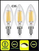 2W 4W LED-ljus glödlampa C35 C35T Dimmerbar högkvalitativ E12 E14 E27 E26 B15 B22 Energibesparande lampor för ljuskrona lampa