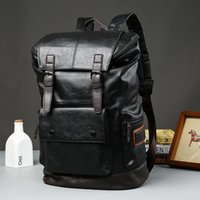 Backpack Men Leather School Bag Fashion Waterproof Travel Casual Book Male Laptop Business Bags