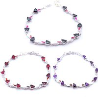 Link, Chain Women Party Gift Silver Fire Opal Fashion Bracelets Free Ship B015