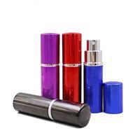10 ml Parfüm Şişesi Mini Taşınabilir Doldurulabilir Alüminyum Atomizer Sprey Gezgin Kozmetik için Boş