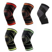 Elbow & Knee Pads 1PC Sports Kneepad Men Pressurized Elastic Fitness Support Gear Portable Brace Protector Basketball Volleyball T7X5