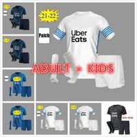Adulto Kids Kit 21 22 Marselha Futebol Jerseys Olympique de Casa Branco Especial Milik Om África 2022 2021 Payet Thaufin Benedetto Football Jersey MenBalr Quarta Camisa