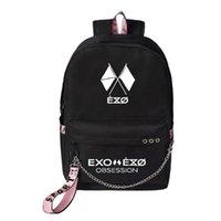 ظهره وصول EXO السادس هوس قماش شانييول KPOP USB شحن سلسلة محمول السفر