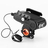 Bike Horns 4 in 1 LED Bicycle Light Front USB Portacanico ricaricabile ricaricabile 4000mah lampada per lanterna