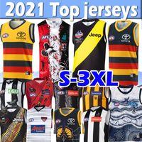 2021 AFL Collingwood Western Bulldogs RICHMOND Rugby Jerseys BRISBANE LIONS PORT ADELAIDE Melbourne HAWTHORN Essendon Men jersey Crows GWS Giants shirts top