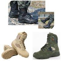 Outdoor Tactical Couro Botas de Couro Botas Sneakers Homens Exército Militar Combate Caminhadas Patrulha Impermeável Deslizante Delta Delta Escalada Sapatos de Trabalho