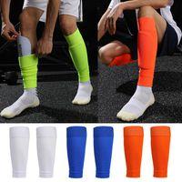1 paar Hight Elasticity Soccer Football Shin Guard Volwassenen Sokken Pads Professionele Legging Shinguards Sleeves Beschermende Gear