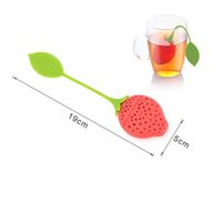 Coffee & Tea Tools Strawberry Shape Food Grade Silicone Infuser Strainer Silica Gel Bag Filter s Cup Hanger 8WPC