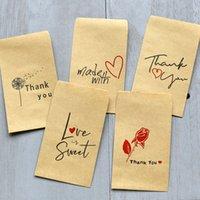 25pcs Mini Sacs en papier Kraft pour cadeaux Unicorn Merci sac cadeau Sermaid Mariage Party Favors Lama Paper Candy Boîte cadeau Drage