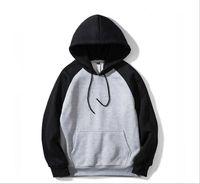 Hoodie 패션 스타일 새로운 남성 색상 일치 긴 소매와 세련된 후드 칼라 캐주얼 스웨터 티셔츠에 대한 캐주얼 스웨터 스웨터